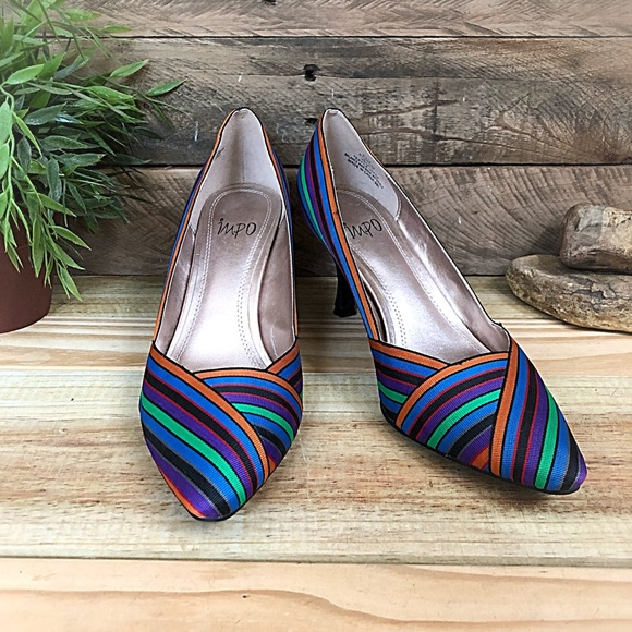 Impo Shoes - Impo 80's style multicolored fabric pumps
